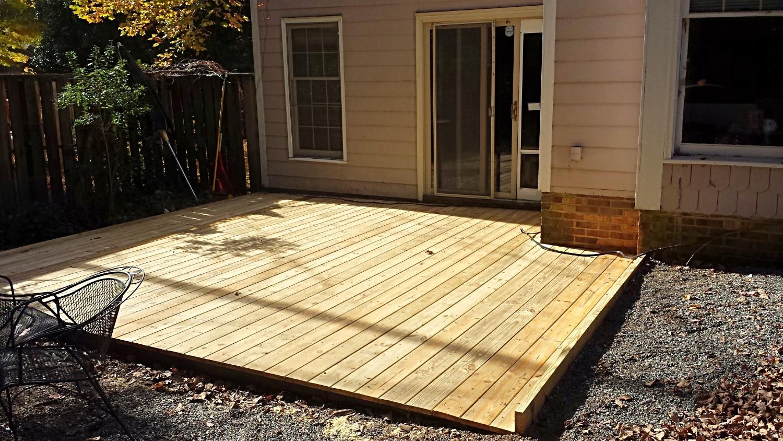 Restored Deck After