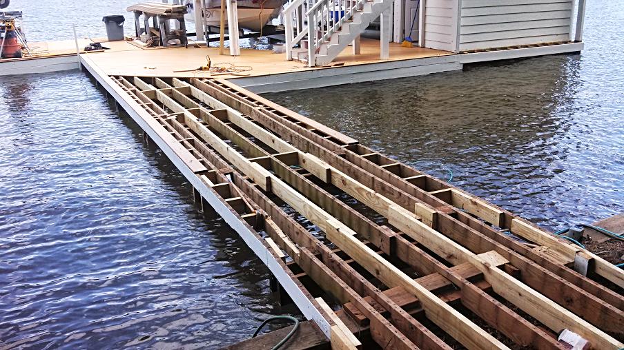 Lake Deck Bridge During