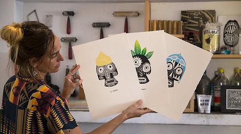 Graphic Art Oficios Saskia Onvlee La Sonrisa de la muerte Todos Santos Galeria