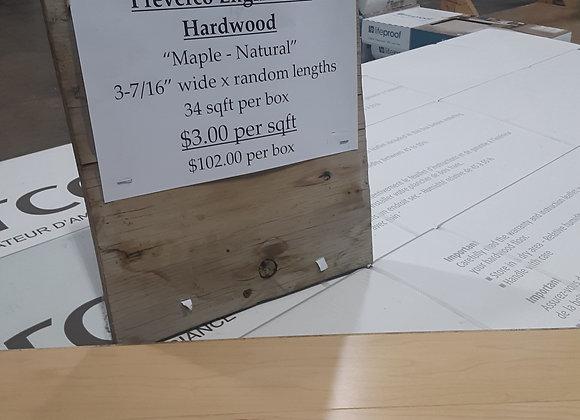"Portage- Preverco Engineered Hardwood flooring ""Maple"""