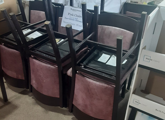 Portage-Pink leather chairs