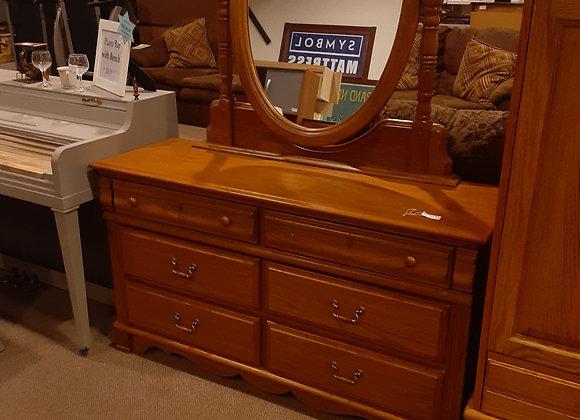 Portage- Oval mirror & Dresser