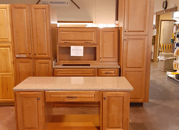 Portage- Kitchen Maid 6 Piece Cabinet set w/  2 solid stone counters