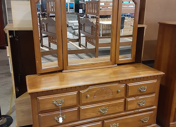 Portage- Long Dresser with mirror