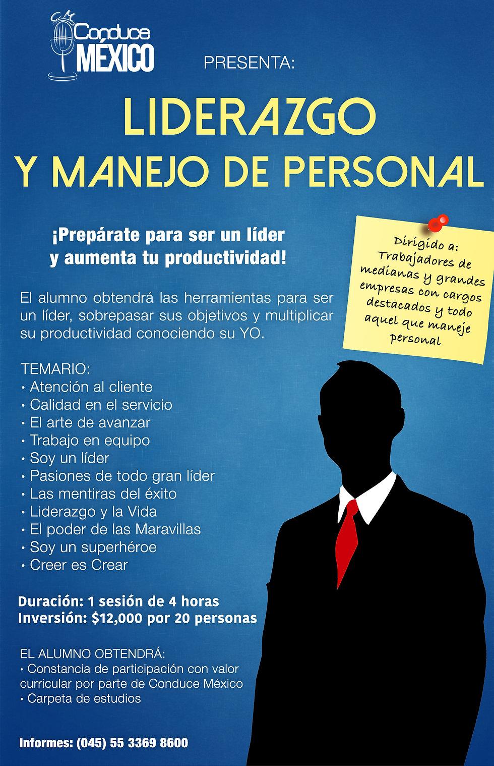 Taller de Liderazgo y Manejo de Personal Conduce México