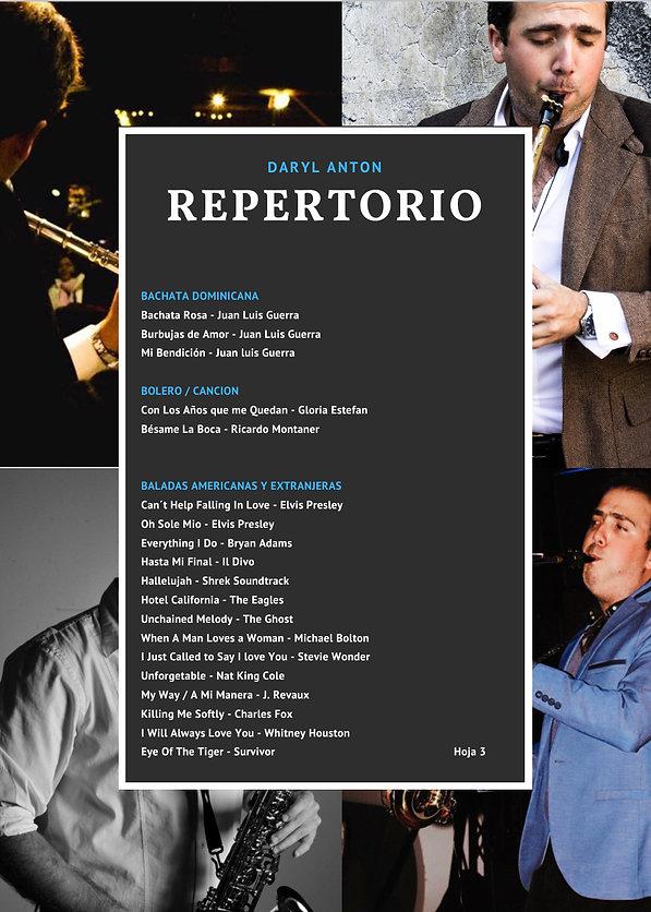 Saxofonista en cdmx Daryl Anton repertorio