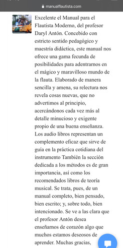 Comprador Manual Flautista
