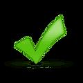 Satisfaction green check mark