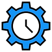 Available 24 hours blue clock