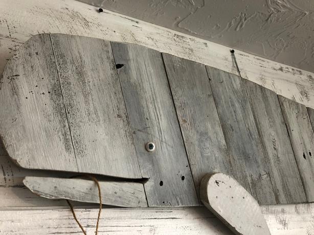Repurposed Wood Whale