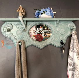 Green Rose Mirror Shelf
