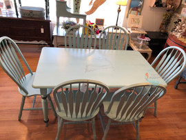 Blue Cape Cod Table and Chair Set