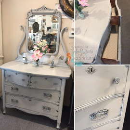 Victorian Gray Bureau Collage
