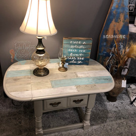 Beachy Barnwood Plank Coffee Table
