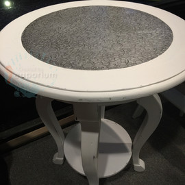 White Texture Table