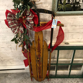 Vintage Decorated Sled