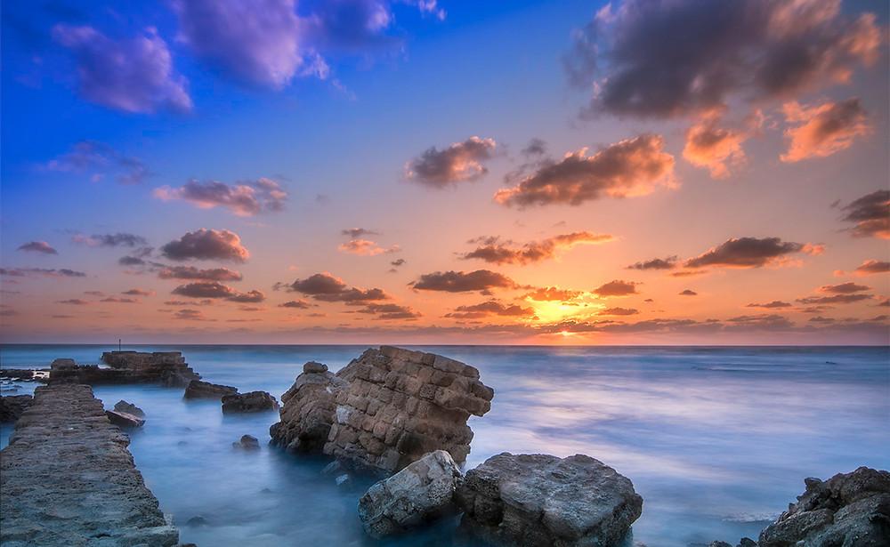 Sunset over Caesarea