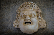 A mask in Vatican museums
