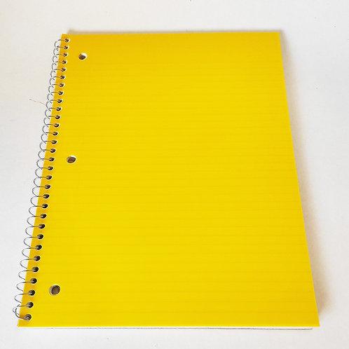 Cuaderno espiral una linea