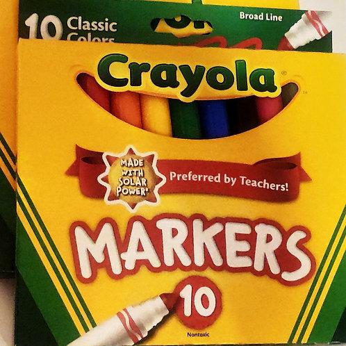 Estuche de 10 marcadores Crayola