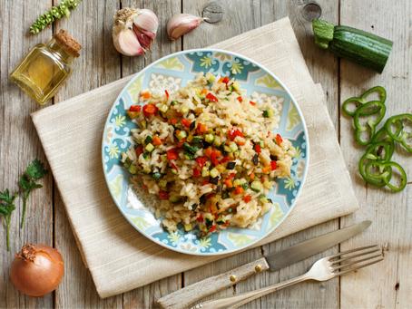 Recette : risotto d'épeautre aux légumes