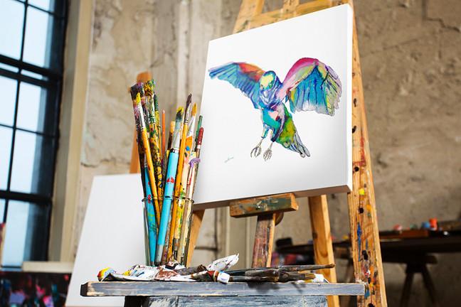 Art school success! Keeping up the craft.