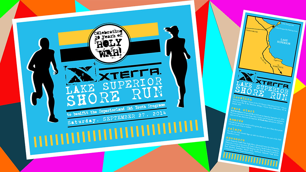 2014 Lake Superior Shore Run – Postcard and rack card design – Photo provided by Chad McKinney
