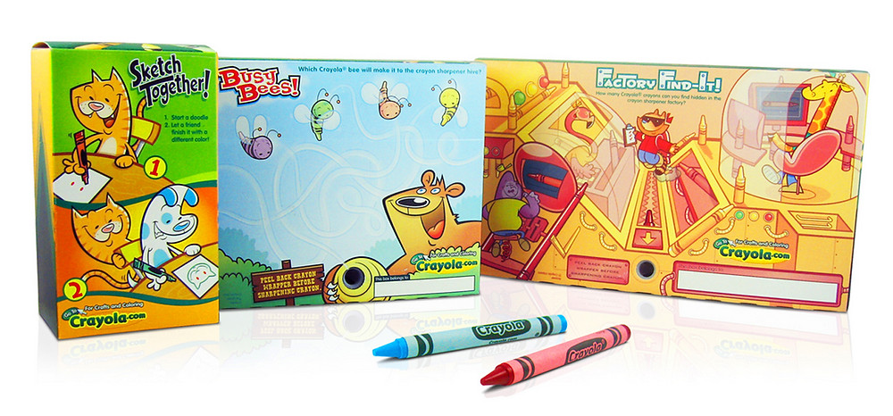 Crayon box games for Crayola (Photo courtesy of Nate Maldonado)