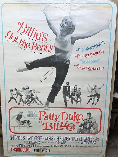 """Billie"" 1965 Movie Poster Patty Duke"