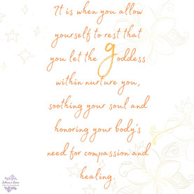 Ayana Cards© Resting into your Goddess