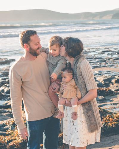 Family beach photograph