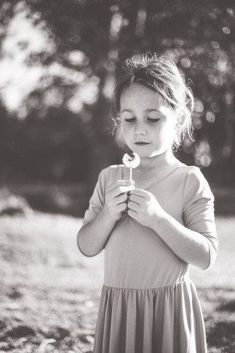 Black and white child photograph