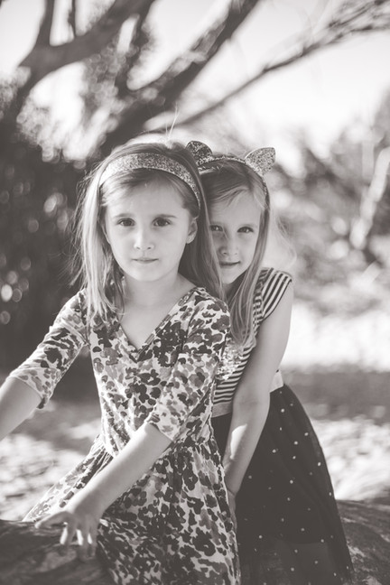 Sister photograph in black and white