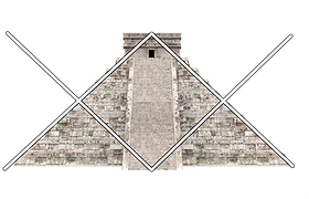 example of canamayte pattern over mayan pyramid