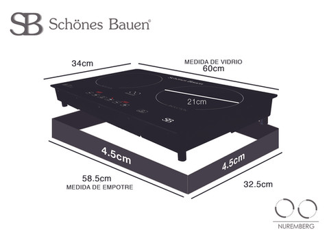 Parrilla de inducción Schönes Bauen Nuremberg