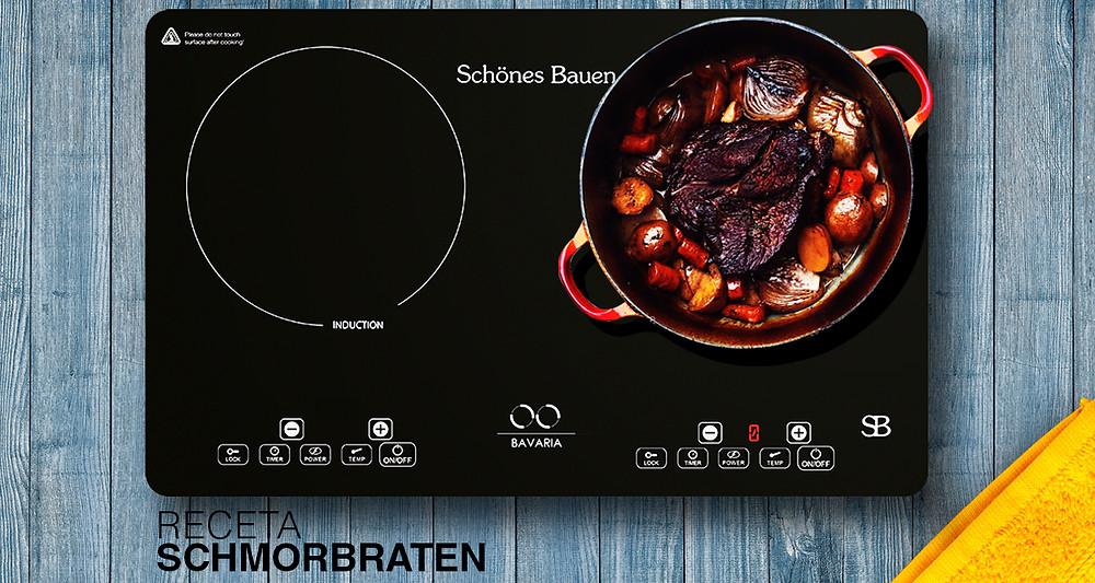 Receta cocina fácil parrilla de inducción magnética  Schönes Bauen