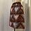 Thumbnail: Handmade Red African Print Cotton Skirt UK Size 10