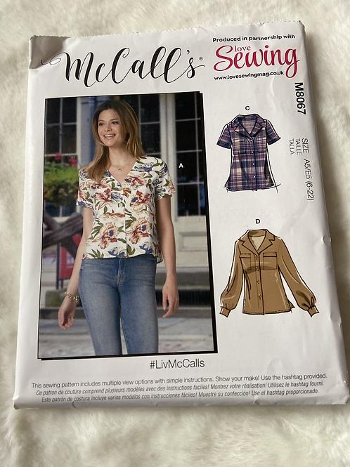 McCall's M8067 Shirt Sewing Pattern
