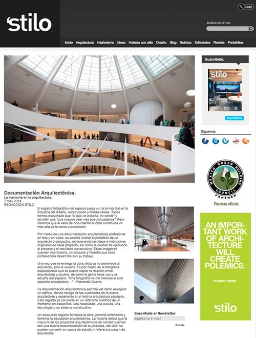 Stilo, Documentación Arquitectónica