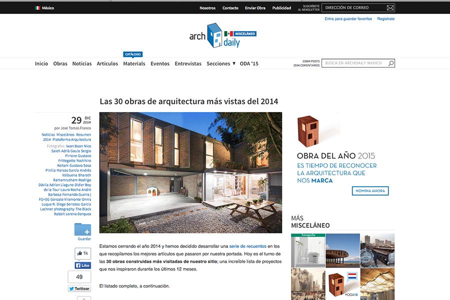 30 Obras más vistas 2014