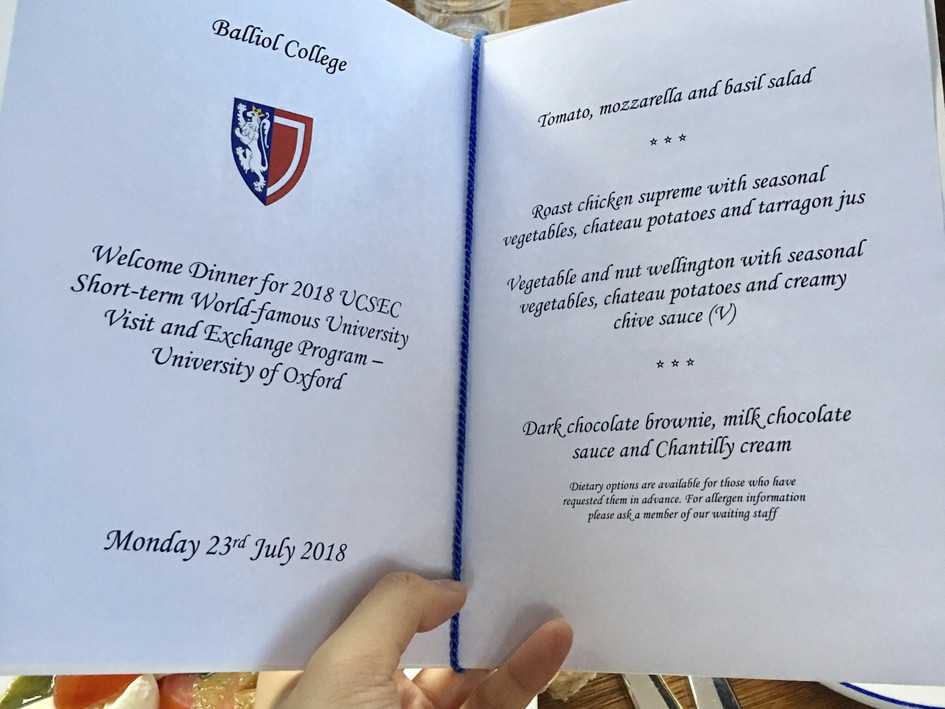 Formal Dinner at University of Oxford