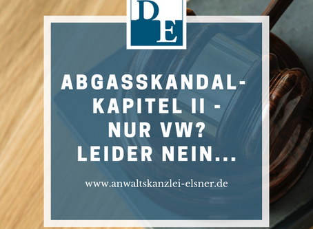 Abgasskandal II - Nur VW?