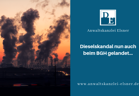 Dieselgate: BGH hält Sachmangel bei unzulässiger Abschalteinrichtung für möglich