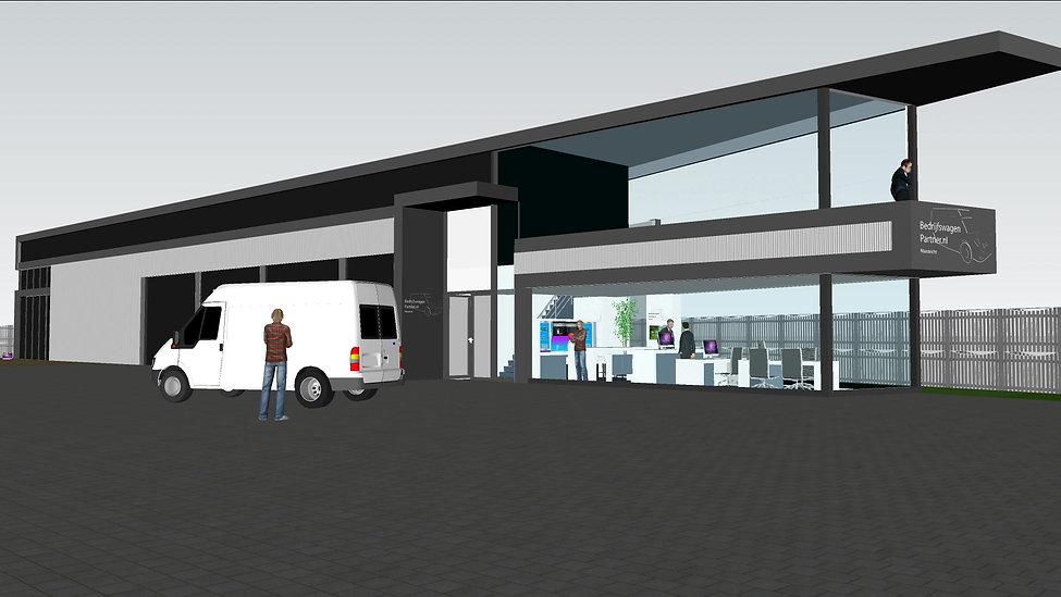 Visualisatie nieuw gebouw en interieurontwerp in 3D