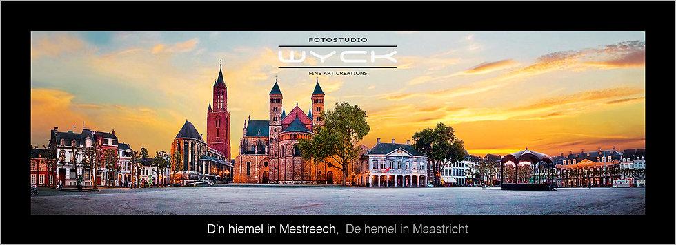 De hemel in Maastricht , 50 x 175 cm Acryl-Dibond