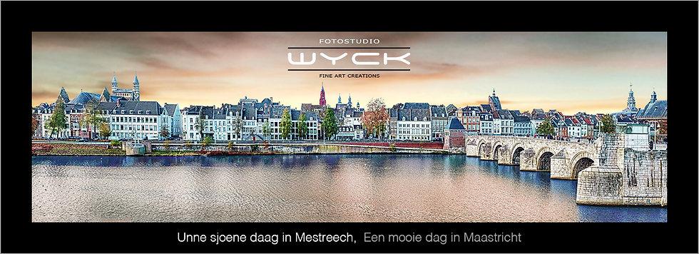 Een mooie dag in Maastricht, 50 x 175 cm Acryl - Dibond
