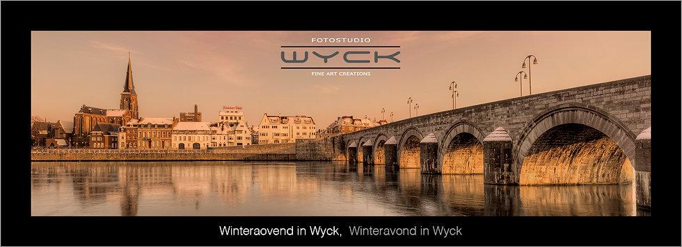 Winteravond in Wyck , 50 x 175 cm Acryl-Dibond