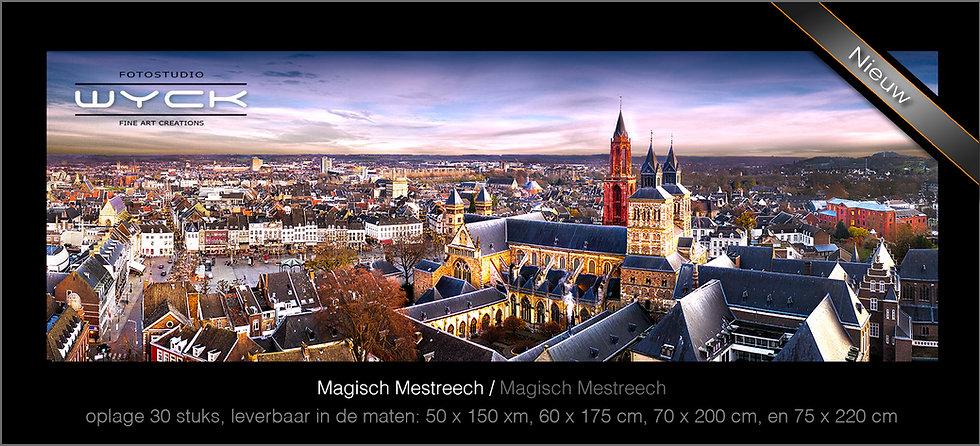 Magisch Maastricht, 50 x 150 cm, Acryl-Dibond