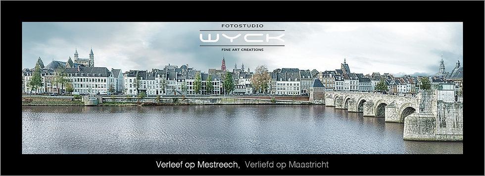 Verliefd op Maastricht, 50 x 175 cm Acryl-Dibond