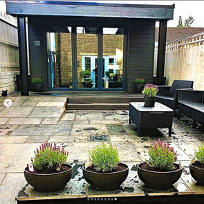 Patio and Summerhouse by ADM Home & Gardenscapes